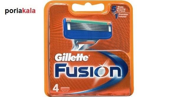 تصویر تیغ یدک 4 عددی ژیلت فیوژن Fusion