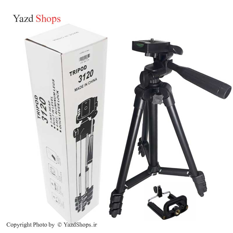 تصویر سه پایه بلند دوربین و موبایل مدل 3120 TRIPOD