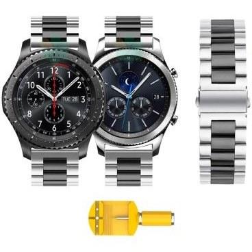 بند ساعت سامسونگ Gear S3 مدل استیل دو رنگ | Samsung Gear S3 Steel Dual Tone