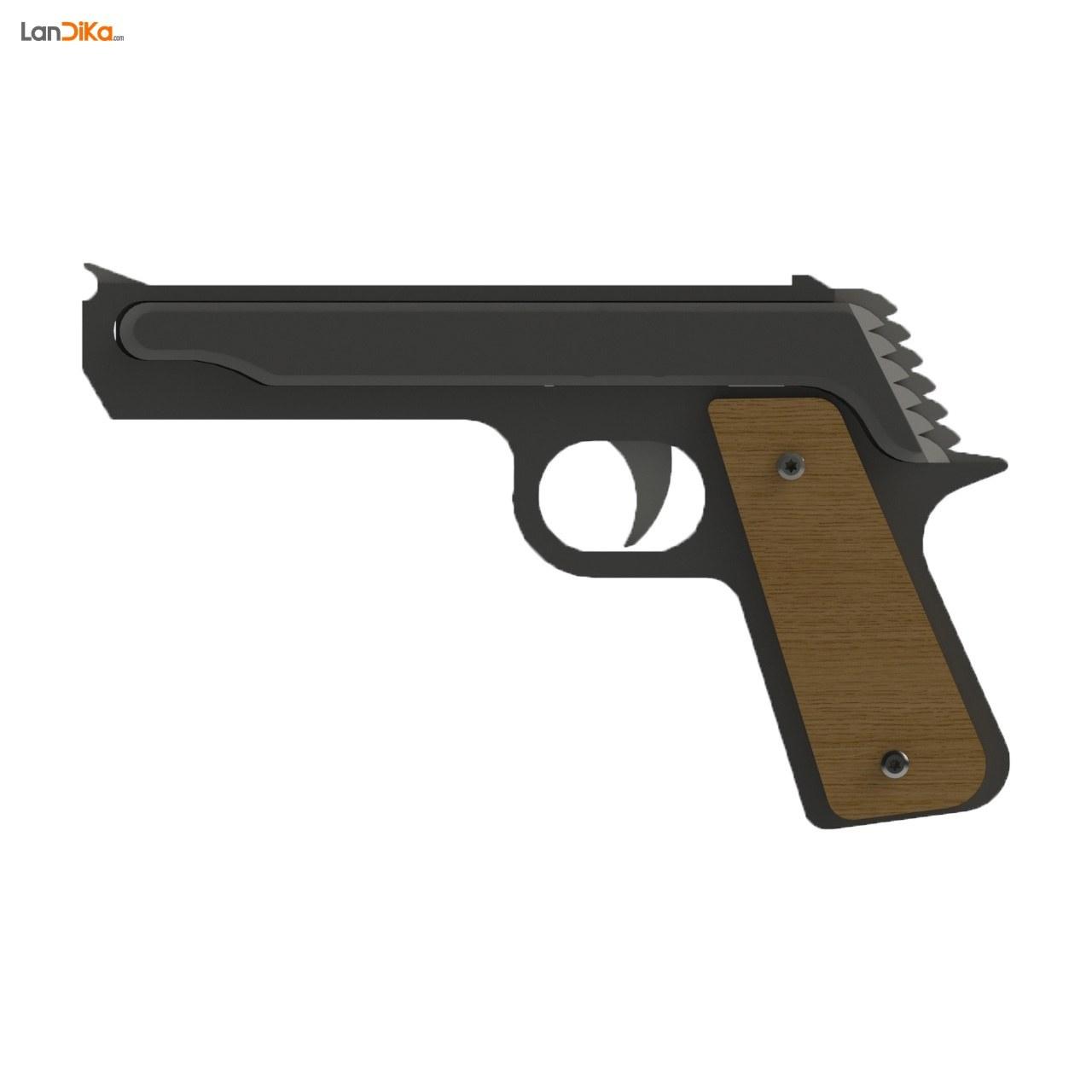 تصویر تفنگ کشی مدل کلت ا rubber band gun rubber band gun