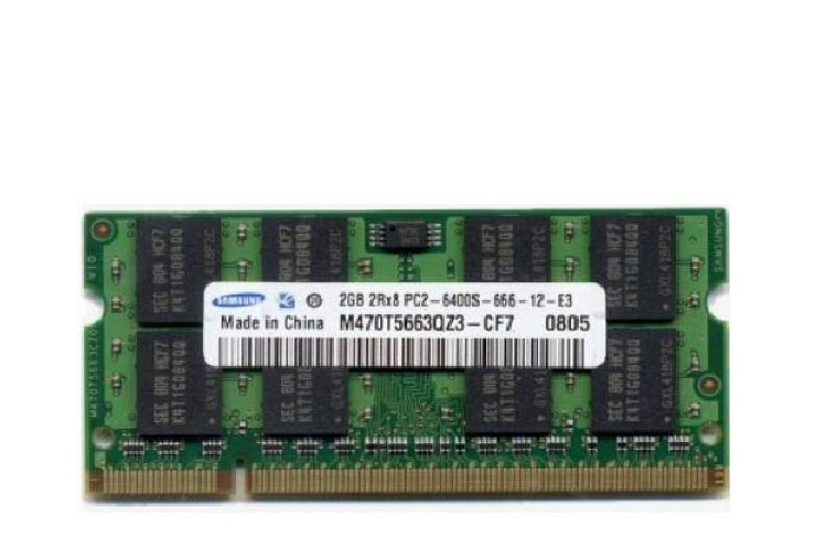 main images رم لپ تاپ سامسونگ ۲ گیگابایت با فرکانس ۸۰۰ مگاهرتز رم  لپ تاپ سامسونگ DDR2-2GB-800MHz Notebook Memory