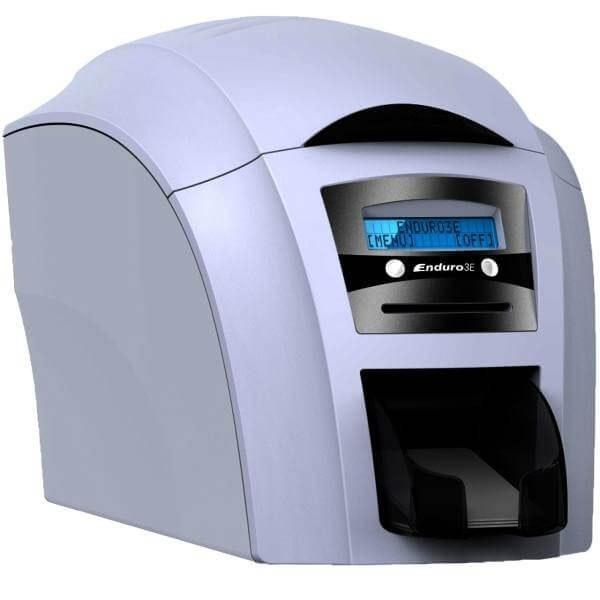 تصویر پرینتر کارت مجیکارد Enduro3E ID دارای  مخزن 100 تایی Enduro3E Duo ID Card Printer