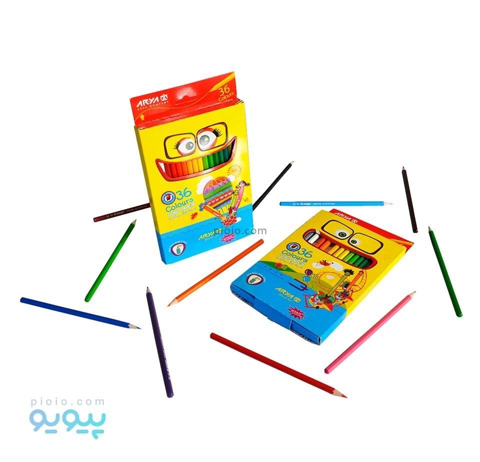 تصویر مداد رنگی 36 رنگ آریا Arya 36Color Pencil