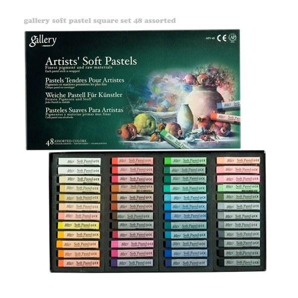پاستل گچی ۴۸ رنگ گالری