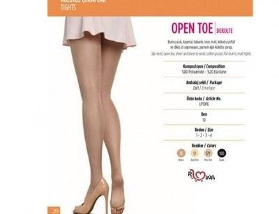 ساپورت شیشه ای  open toe