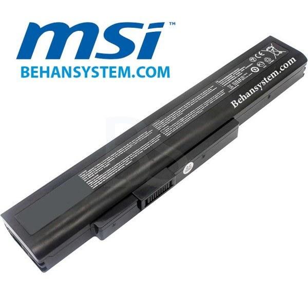 تصویر باتری لپ تاپ MSI مدل CR640 (برند M&M دارای سلول سامسونگ ساخت کره)