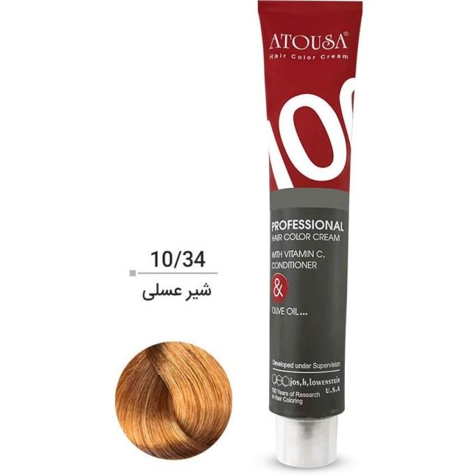 رنگ موی آتوسا 100 میل رنگ 10.34 (شیر عسلی)
