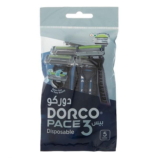 تصویر خودتراش دورکو 3 لبه بسته 5 عددی ا Dorco Pace 3 Disposable 6 pack Dorco Pace 3 Disposable 6 pack
