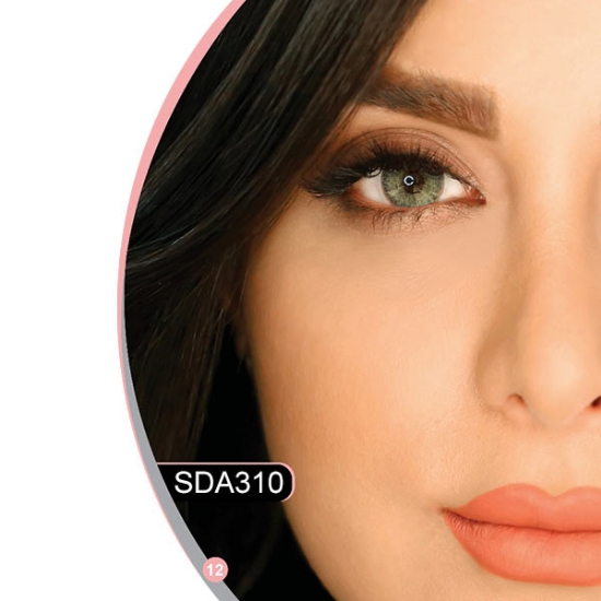 تصویر لنز چشم هرا رنگ سبز دور دار شماره SDA310