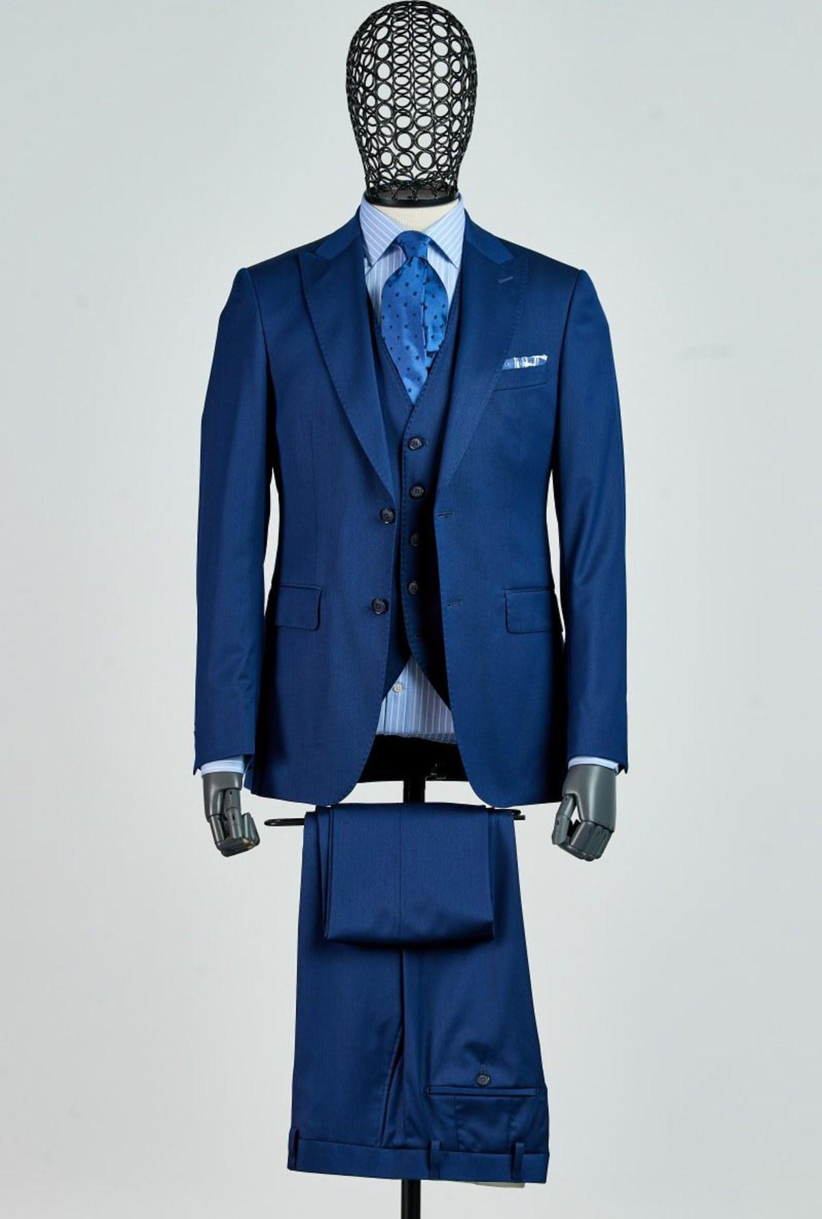 تصویر کت شلوار مردانه جدید برند Giovane Gentile رنگ لاجوردی کد ty39133704