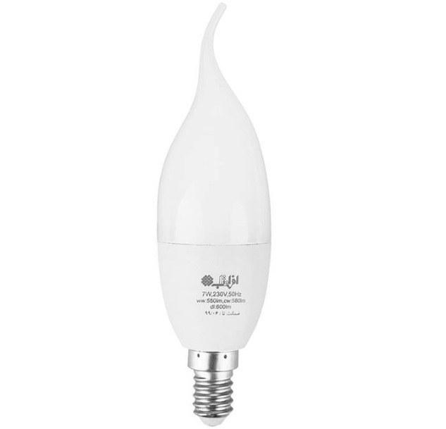 تصویر لامپ ال ای دی 7 وات افراتاب اشکی مدل AF-TC37-7W پایه E14 LED 7W E14 AFRATAB