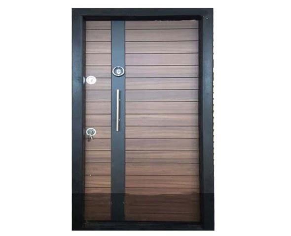 تصویر درب ضد سرقت با روکش لامینوکس دو رنگ  ماهور (طرح ترمو)