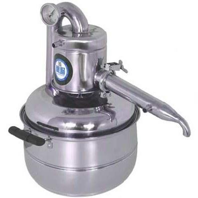 تصویر دستگاه تقطیر عرقیات ۱۵ لیتری تمام استیل