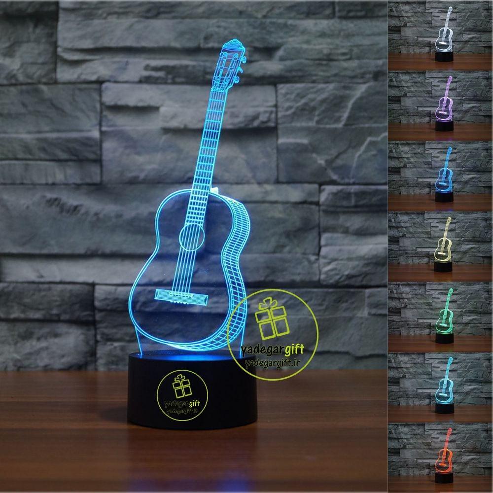 چراغ خواب سه بعدی بالبینگ طرح گیتار | بالبینگ طرح آماده 1-1-1-1-3-3-1