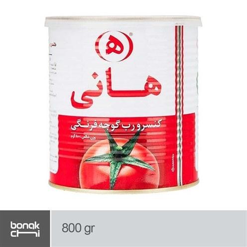 تصویر کنسرو رب گوجه فرنگی آسان بازشو هانی - 800 گرمی Hani Tomato Paste - 800 gr