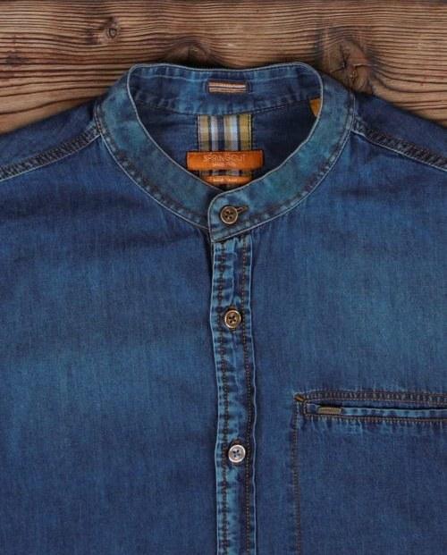 پیراهن جین مردانه یقه دیپلمات |