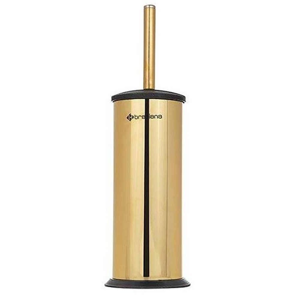 تصویر برس توالت استیل طلایی 3 براسیانا -