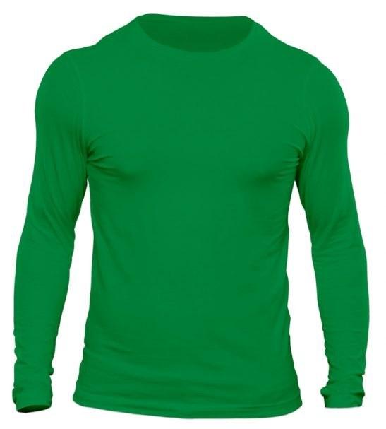 تیشرت آستین بلند مردانه رنگ سبز
