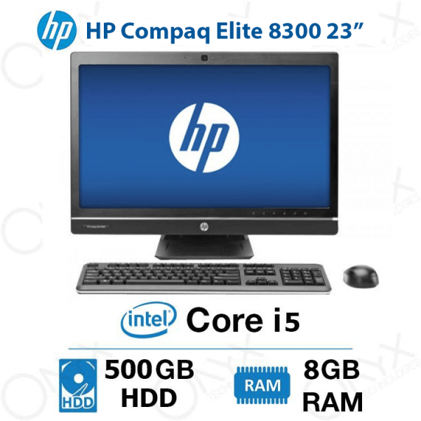 تصویر ال این وان HP Compaq Elite 8300 Core i5 4GB 500GB Intel All-in-One PC HP Compaq Elite 8300