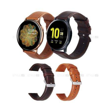 بند ساعت سامسونگ Galaxy Watch Active 2 چرمی Genuine Leather | Samsung Galaxy Watch Active2 Genuine Leather Band