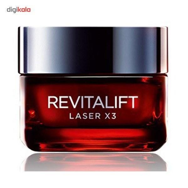 تصویر کرم ضد چروک روز لورآل مدل Revitalift Laser X3 حجم 50 میلی لیتر ا L'Oreal Day Anti-Wrinkle, Revitalift Laser X3 Cream Model, Volume 50 ml L'Oreal Day Anti-Wrinkle, Revitalift Laser X3 Cream Model, Volume 50 ml