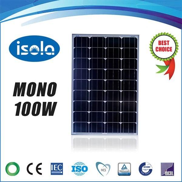 تصویر پنل خورشیدی 100 وات OSDA-ISOLA مونو کریستال