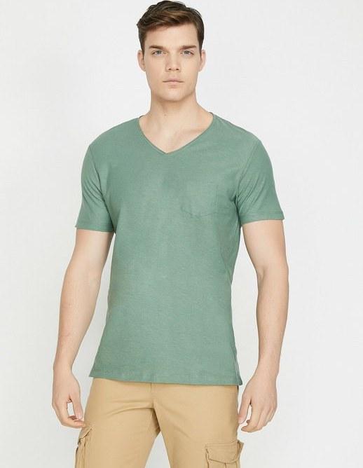 تی شرت آستین کوتاه کوتون با کد 9YAM12058LK800