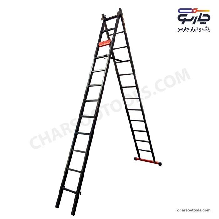 تصویر نردبان کشویی آهنی 25 پله