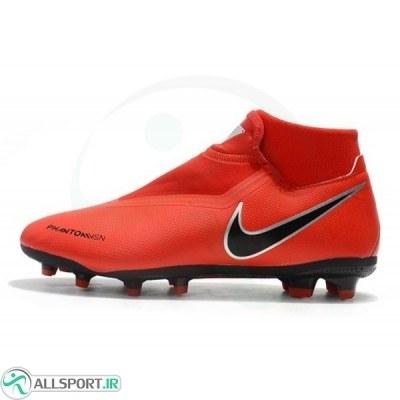 کفش فوتبال نایک فانتوم طرح اصلی قرمز Nike Phantom Vision FG Red Black Silver