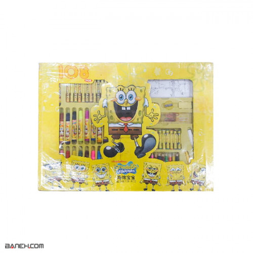 main images ست لوازم تحریر باب اسفنجی Spongebob Stationery Set Spongebob Stationery Set