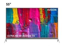 تصویر تلویزیون ال ای دی هوشمند ایکس ویژن مدل 55XKU645 سایز 55 اینچ X.vision 55XKU645 Smart LED TV 55 Inch