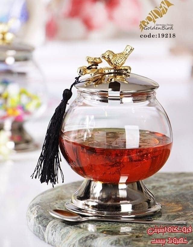تصویر ظرف عسل پایه دار گنجشک کدکالا 4225_97