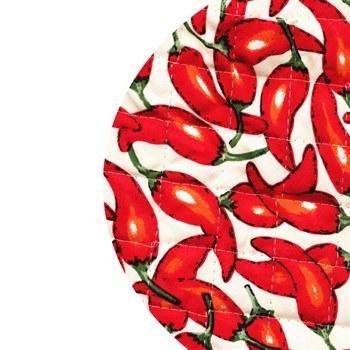 دم کني چاپي 3 تکه رزين تاژ طرح فلفل قرمز | Rezin Taj 3 Pieces Chili Printed Steam Tight
