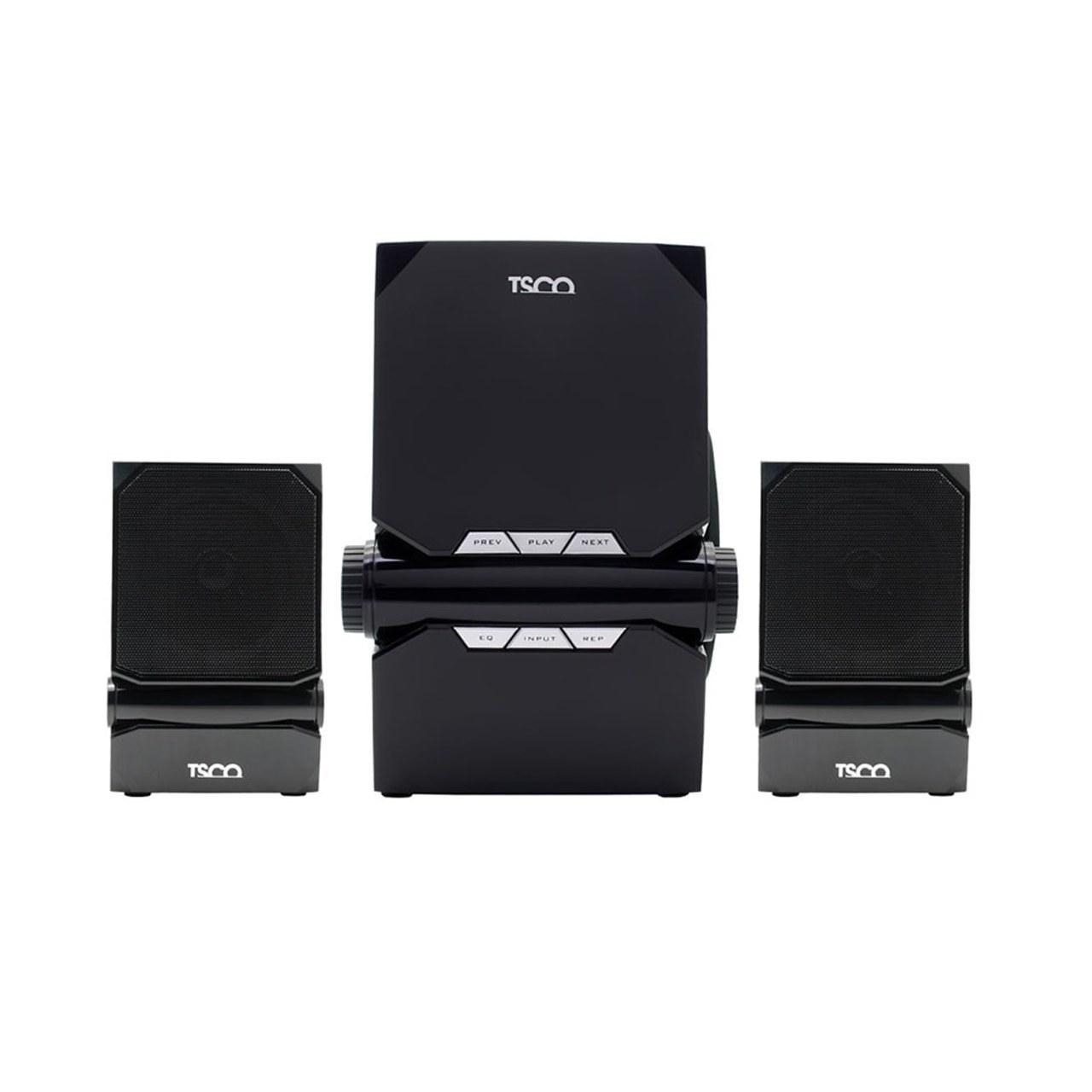 تصویر اسپیکر بلوتوثی رم و فلش خور TSCO TS 2195 + ریموت کنترل ا TSCO TS 2195 multi media speaker TSCO TS 2195 multi media speaker