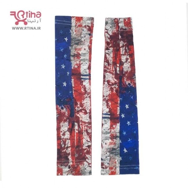 تصویر ساق دست پرچم آمریکا مدل پارچه ای (زنانه و مردانه)