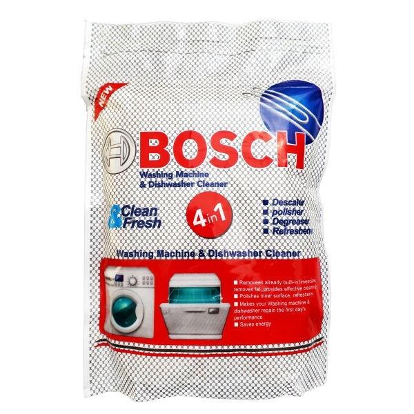 پودر جرم گیر ماشین ظرفشویی و لباسشویی بوش مقدار 500 گرم | Bosch Washing Machine Cleaner 500gr