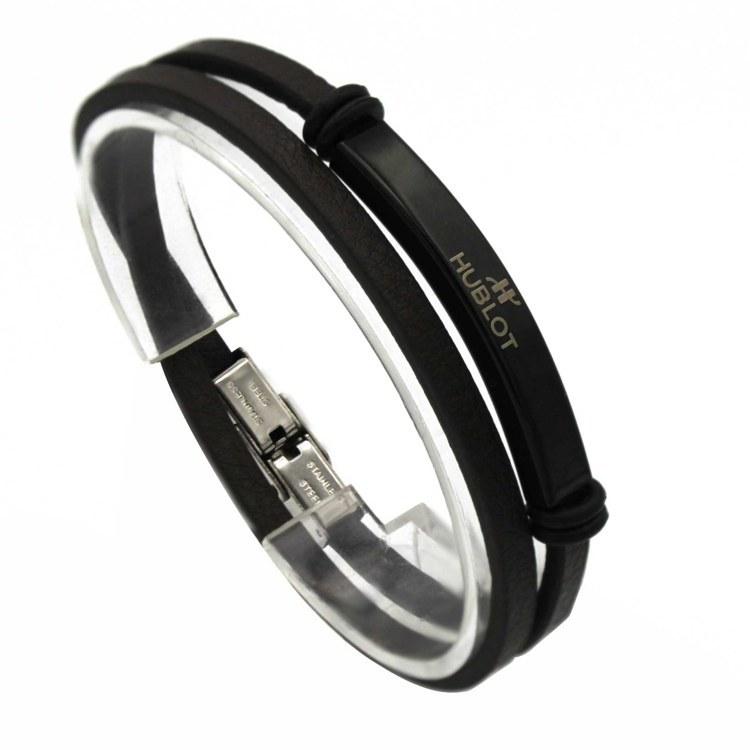 عکس دستبند مردانه HUBLOT کد id3017  دستبند-مردانه-hublot-کد-id3017