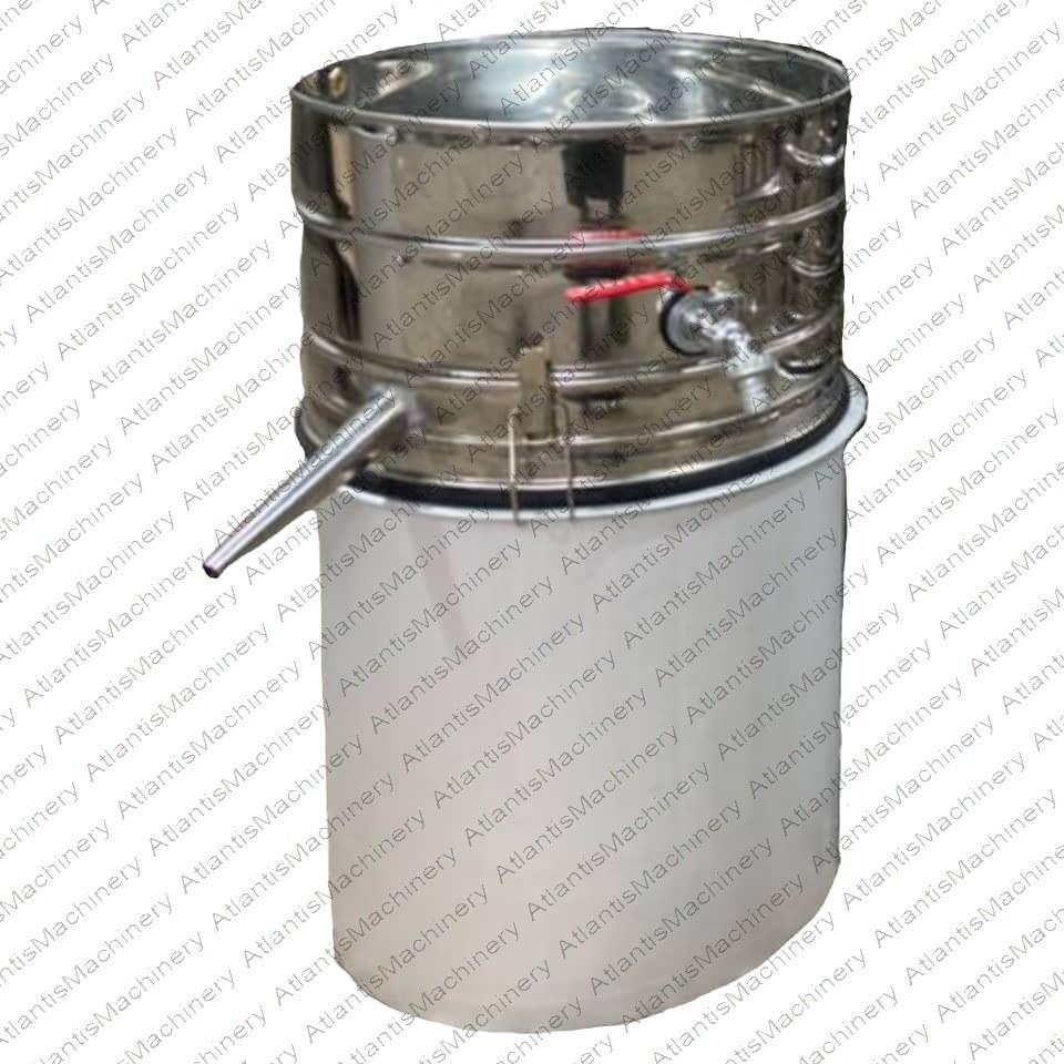تصویر دستگاه تقطیر(عرق گیر) 10 لیتری سنتی لوله کوتاه با کندانسور(خنک کننده) آبی ایرانی