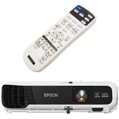 تصویر کنترل ویدئو پروژکتور اپسون مدل Epson EB-W130