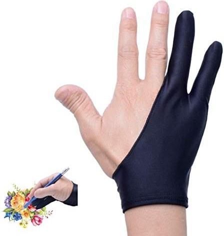 main images دستکش هنرمند برای قرص کشیدن قرص انگشت دستکش برای گرافیک طراحی قرص نور جعبه نور ردیابی پد نور (دستکش هنرمند - L 4 بسته)