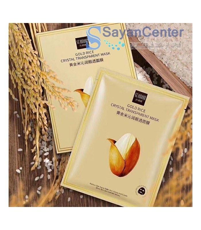 ماسک ورقه ای شفاف کننده کریستال برنج طلایی برند سناناSnana Gold Rice Cristal Mask