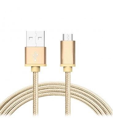 تصویر کابل Micro USB کنفی با کانکتور فلزی (موبایل و تبلت) فرانت