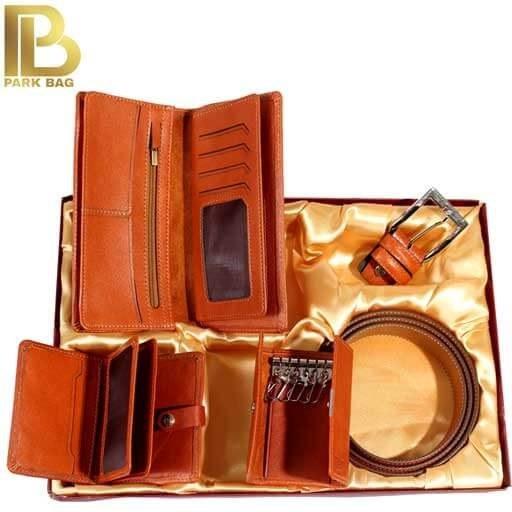 تصویر ست هدیه تمام چرم طبیعی برند TAK مدل Handmade Leather