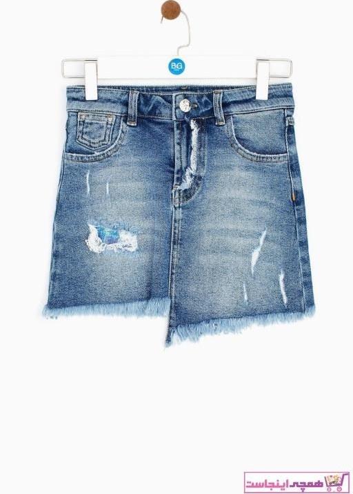 تصویر خرید اینترنتی دامن خاص دخترانه برند Tyess رنگ نقره ای کد ty41809293