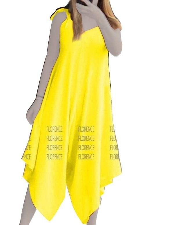 عکس پیراهن ساحلی زرد زنانه کد ۲۱۹  پیراهن-ساحلی-زرد-زنانه-کد-219