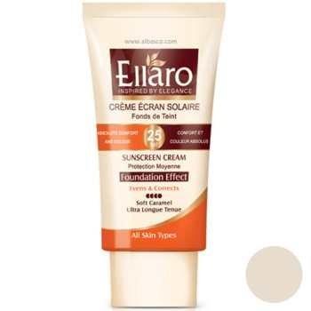 تصویر كرم ضد آفتاب با پوشش کرم پودری الارو با SPF 25 حجم 40 میل - بژ روشن Ellaro Sunscreen Cream SPF 25 40ml Light Beigehttps://mahrosho.com/site/search?q=Ellaro+Sunscreen+Cream+SPF+25