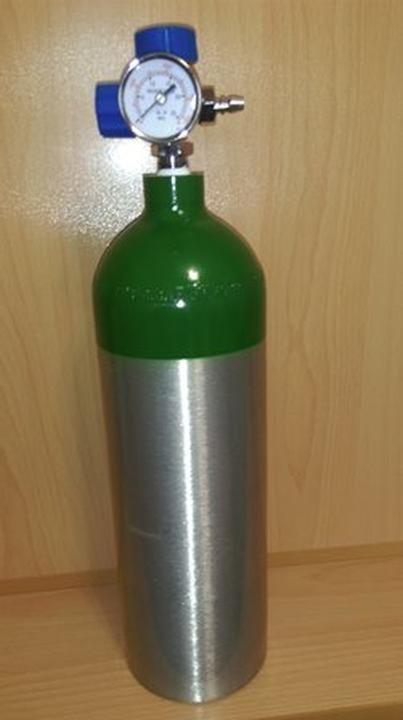تصویر کپسول اکسیژن 2 لیتری آلومینیوم