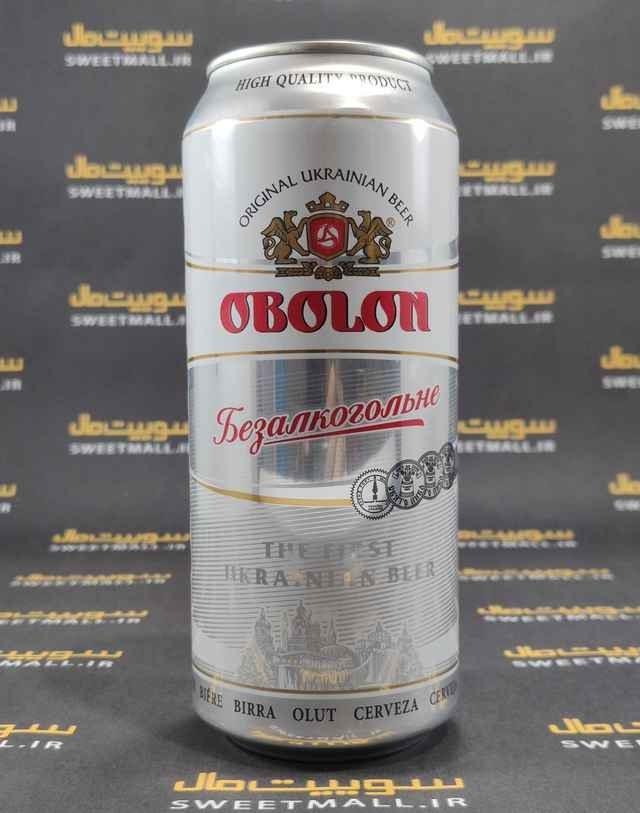 تصویر آبجو بدون الکل ابولون قوطی 500 میلی لیتر Obolon