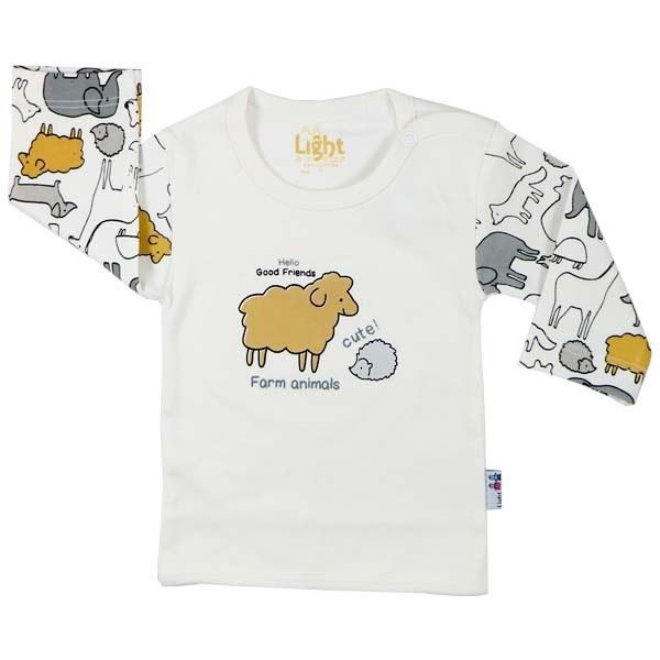 تی شرت اسپرت آستین بلند لایت طرح حیوانات