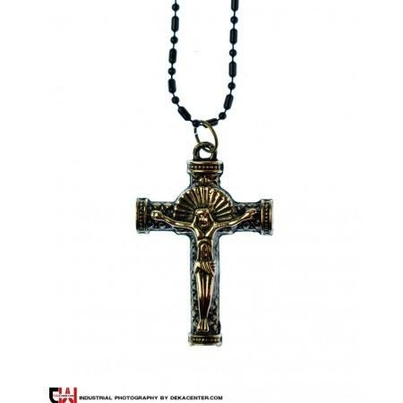 گردنبند صلیب استیل مدل فوکا |
